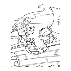 Pirate Coloring Pages - Cute Cat Pirates