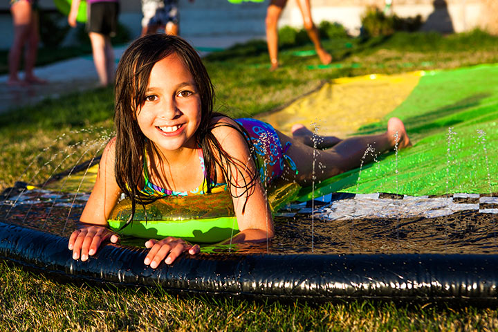 Spring Activities For Kids - DIY Water Slide
