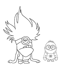Dave As Evil Minion Coloring Sheet