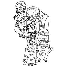 25 cute minions coloring pages for your toddler - Despicable Coloring Pages Dave