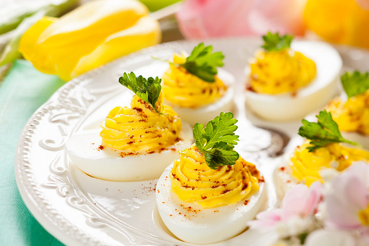 Crab During Pregnancy - Devilled Eggs With Crab