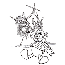 pirate coloring pages donald the pirate - Pirate Coloring Page