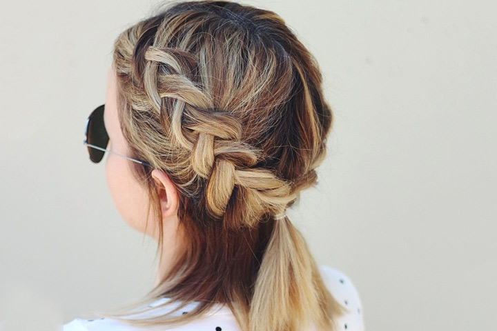 Dutch Braid Ponytail Images