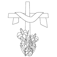 Lily Coloring Pages - Easter Lily