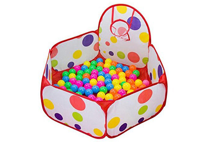 Education Toy, Baomabao Pop up Hexagon Polka Dot Children Ball Play Pool Tent Carry Tote Toy+50 Balls