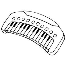 Piano Coloring Pages - Electronic Keyboard