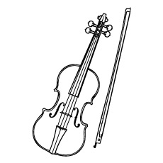 Electronic Violin Coloring Page