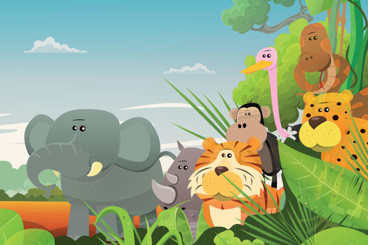 Elephant and friends