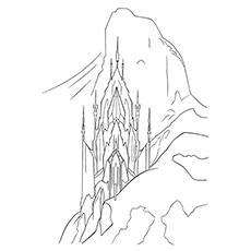 Frozen Elsa's Ice Palace Coloring Pages