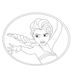 Elsa Dancing Position Coloring Page