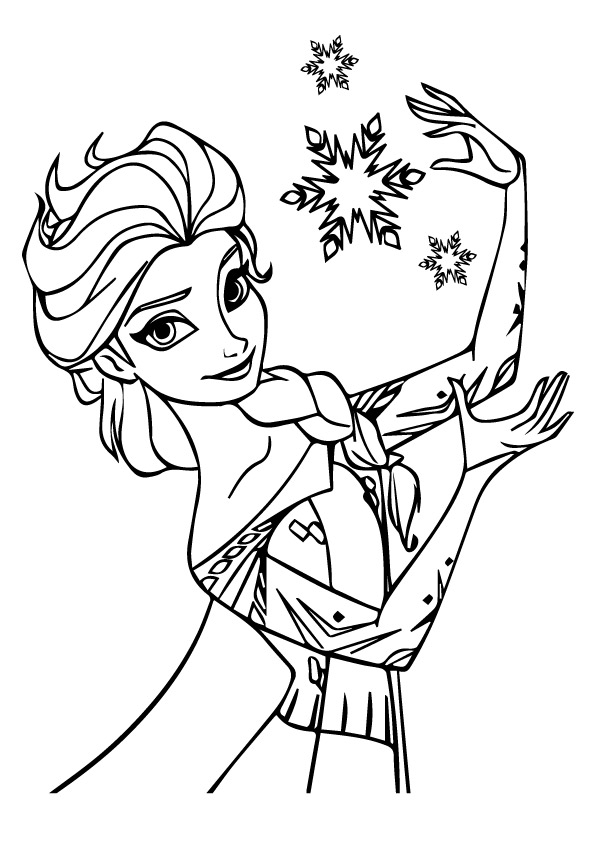 Elsa-during-Christmas-Coloring-Pages