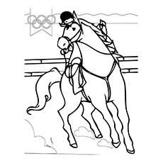Olympics Sport Equestrian Coloring Pages -