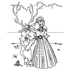 FROZEN Movie Part 3 Coloring Page
