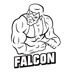 character name falcon of avengers group member coloring pages