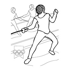 Olympic Sport Fencing Coloring Pages