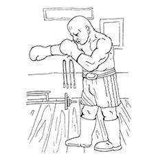 Fierce Boxer Coloring Pages