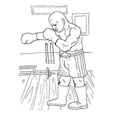Fierce Boxer Coloring Pages