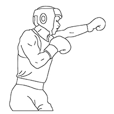 Boxing Finish The Picture Coloring Pages