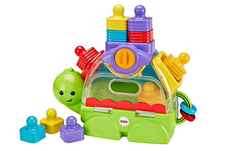 Fisher-Price Little Stackers Sort 'n Spill Turtle