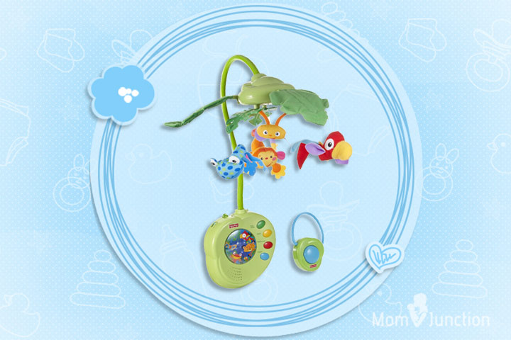 Toys For 2 Month Old - Fisher-Price Musical Mobile, Rainforest Peek-A-Boo Leaves