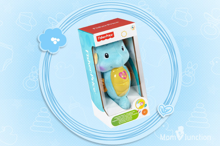 Toys For 1 Month Old Baby - Fisher-Price Soothe and Glow Seahorse Baby Soother – Blue