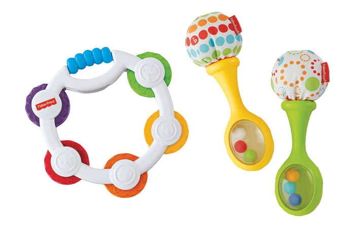 Fisher Price Tambourine and Maracas Gift Set, Multi Color 14