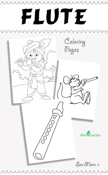 10 best flute coloring pages your toddler will love - Baby Krishna Images Coloring Pages