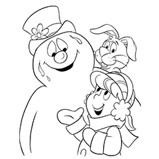 Frosty The Snowman Coloring Pages - Frosty, Karen And Hocus Pocus