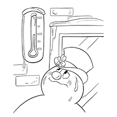 Frosty The Snowman Coloring Pages - Frosty Melting