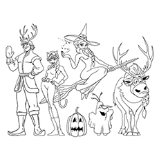 Halloween Disney Frozen Printable Coloring Pages Coloring