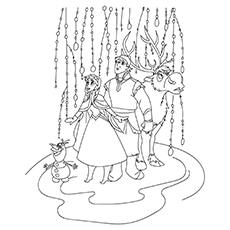Frozen Coloring Page With Olfa And Sven 16