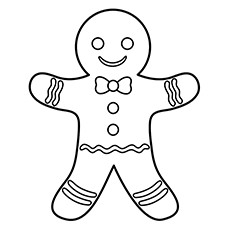 Cookie Coloring Pages - Gingerbread Cookie