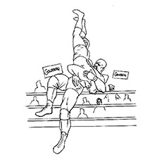 top 10 wrestling coloring pages for your little one - Wwe Pictures To Colour