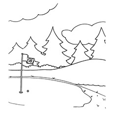 Golf Coloring Pages - Golf Course