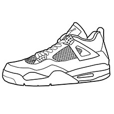 Golf Coloring Pages - Golf Shoes
