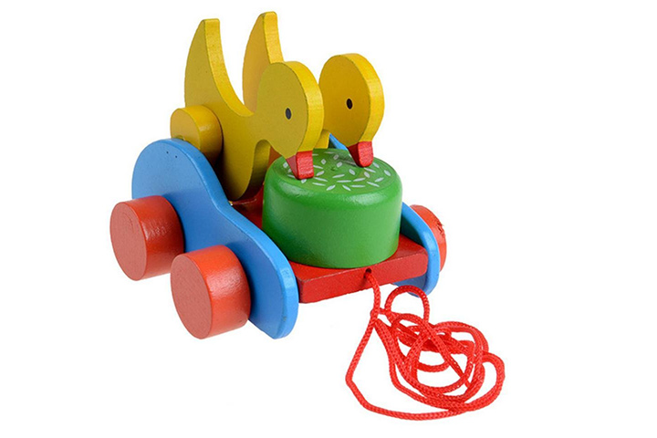 Gotd Ducks Pecking Mira Car Wooden Early Educational Toys