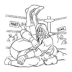 Coloring Pages of Hart And Flair Wrestling