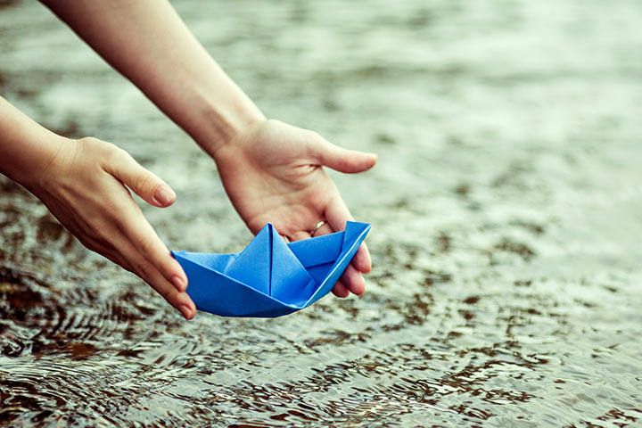 Rainy Day Activities For Kids - Have a paper boat race