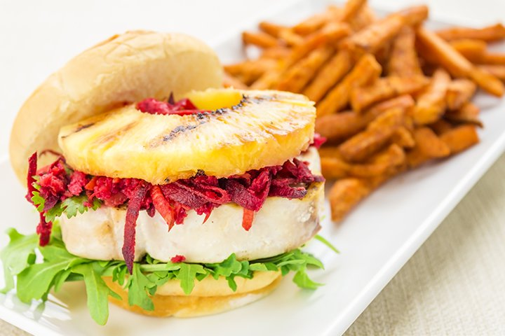 Pineapple Recipes For Kids - Hawaiian Pineapple Burger