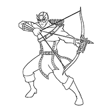 Printable Coloring Picture of Avengers Hawkeye