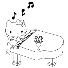 Hello Kitty Playing Piano 317