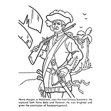 Pirate Coloring Pages - Henry Morgan