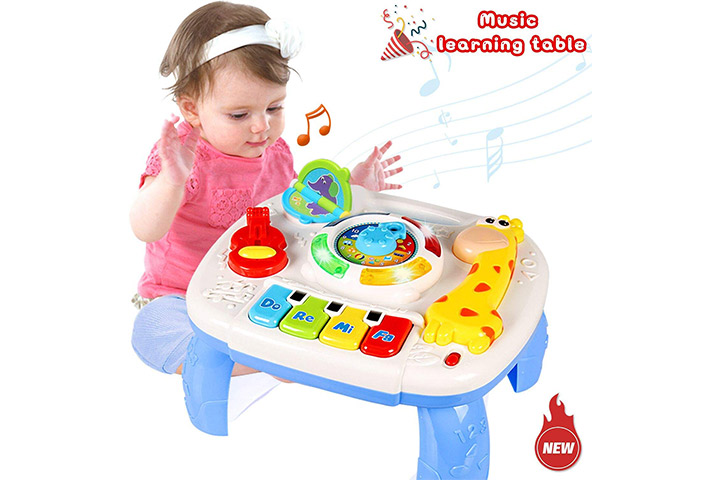Musical Cell Phone with Mirror Learning Toys for Baby Toddler Random Color