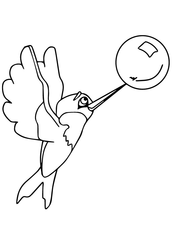Hummingbird-Playing-With-A-Bubble