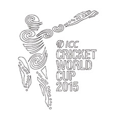 Cricket Coloring Page - ICC Cricket World Cup