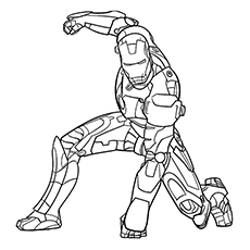 iron man avengers character loki coloring pages - Avengers Coloring Pages