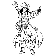 Pirate Coloring Pages - Jack Sparrow
