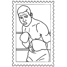 Boxing Coloring Pages - Joe Louis