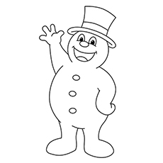 Frosty The Snowman Coloring Pages - Jubilant Frosty