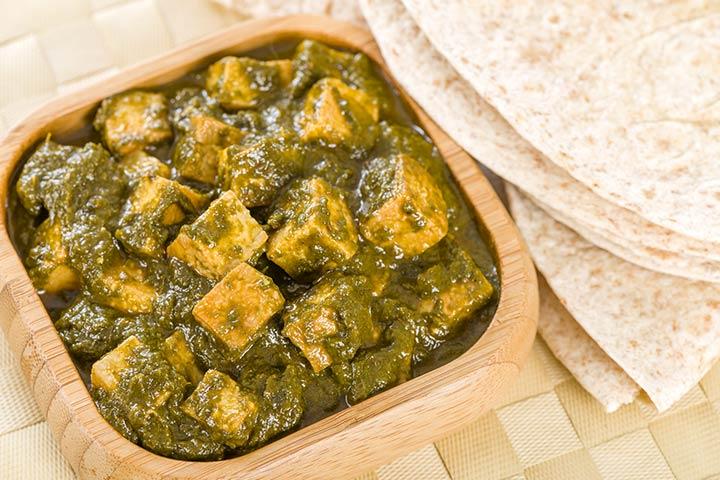 Paneer Recipes For Kids - Kale Paneer